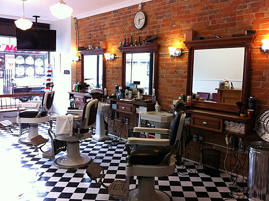shop it has great black and white floors beautiful brickwork and