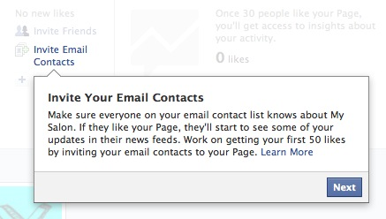 Invite your email contacts