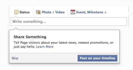 Facebook Share Something