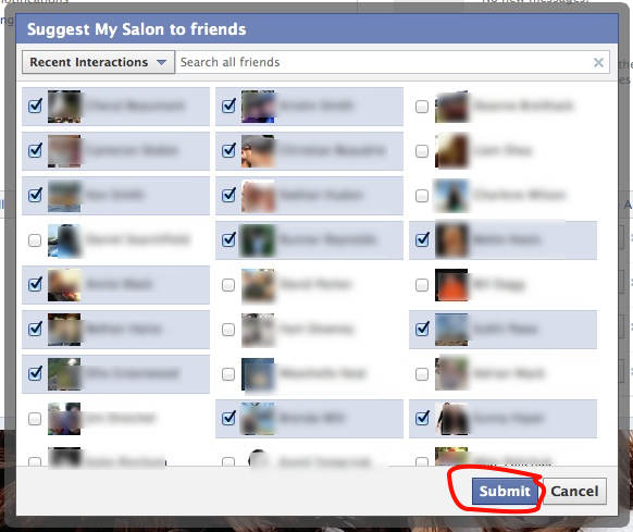 invite friends to my page
