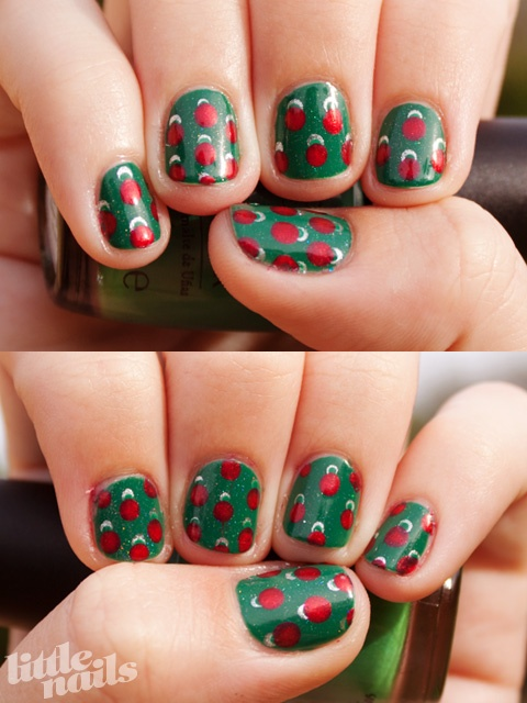 christmas ornament nail art - photo #35