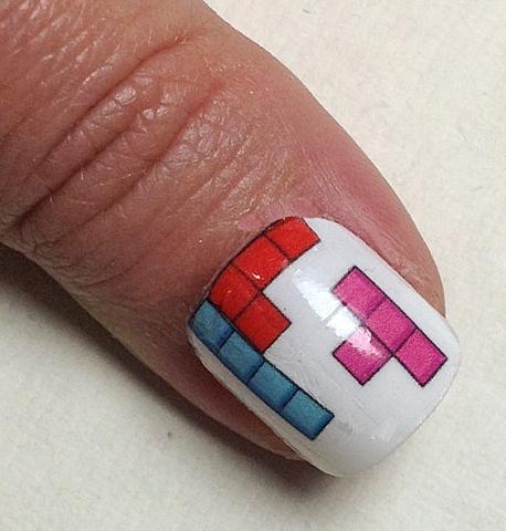 Tetris Nail Decal