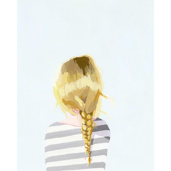 blonde braid