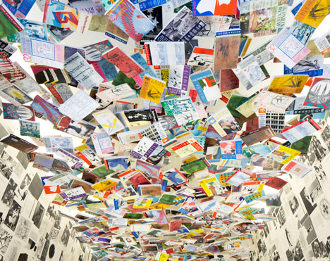 ceiling covered in The Paris Review
