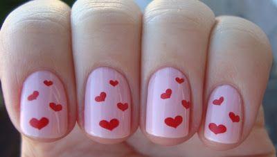 more valentines nail art