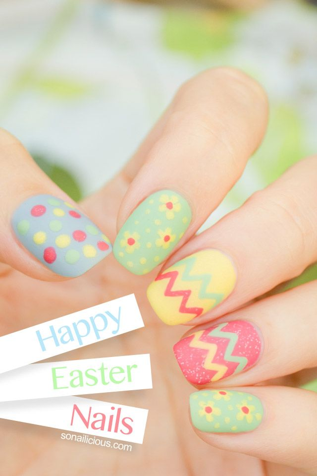 easter egg nails from sonailicious.com