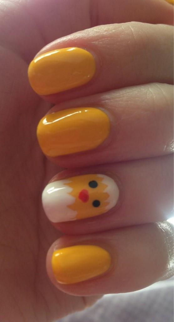 super cute chick nails
