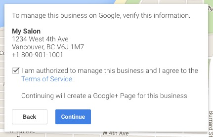 I am authorized to manage this business in Google