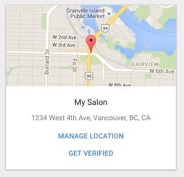 My Salon business card