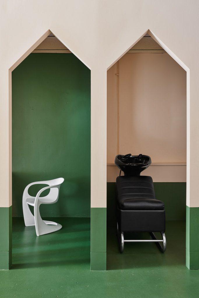 wash station salon design