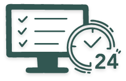 schedule anytime anywhere icon